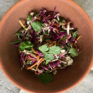 Fresh and Crunchy Vietnamese Coleslaw | cookglobaleatlocal.com