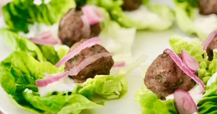 Mughlai Meatball Lettuce Cups