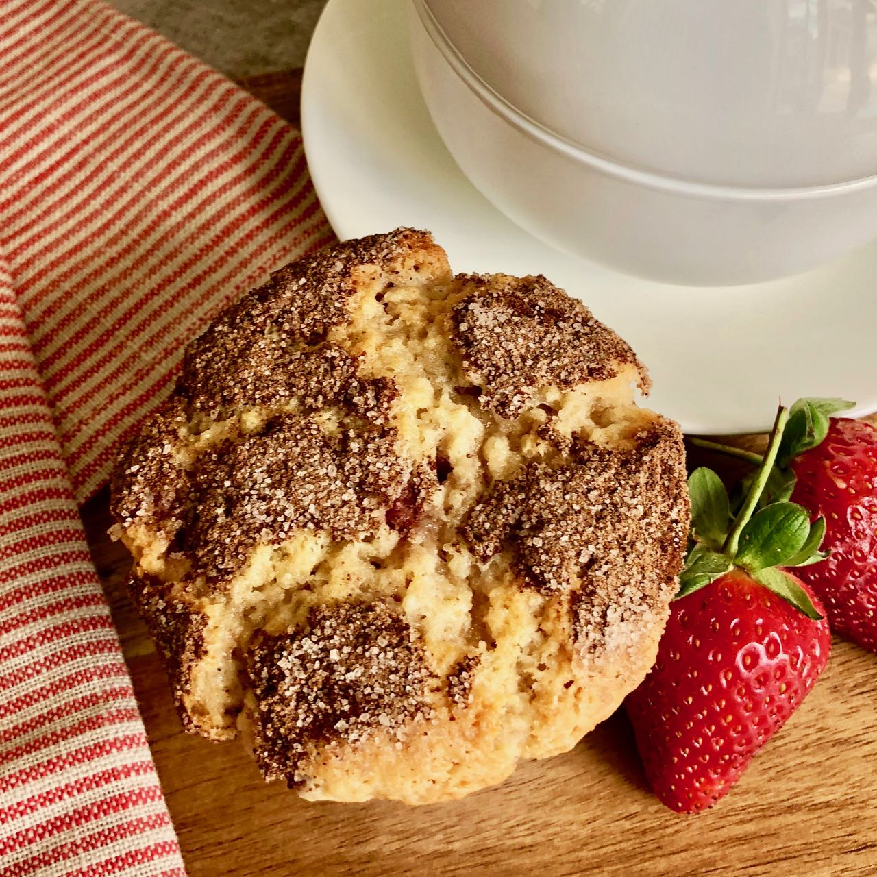 Strawberry Muffins, A Recipe from Southern Country Cooking from the Loveless Café
