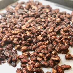 Easy Instant Pot™ Mexican Hot Chocolate Candied Nuts | cookglobaleatlocal.com