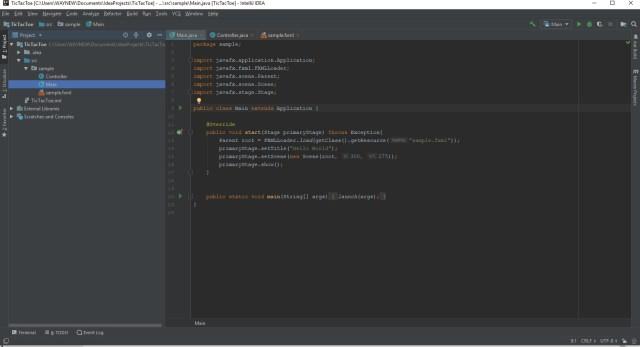 Main JavaFX Code