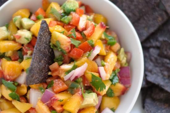 Avocado Peach Salsa | Game Day Snacks