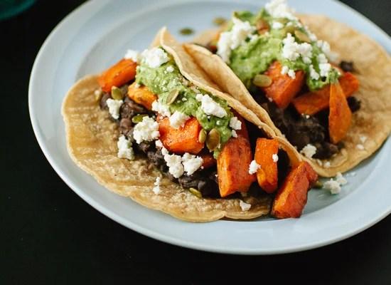 Sweet potato and black bean tacos recipe - cookieandkate.com