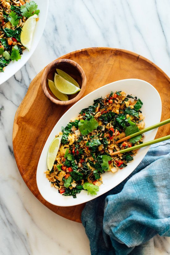 kale coconut stir-fry recipe