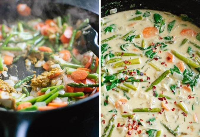 Thai Green Curry with Spring Vegetables - Cookie and Kate