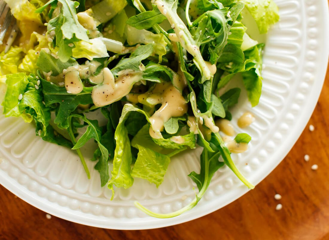 Tahini dressing salad