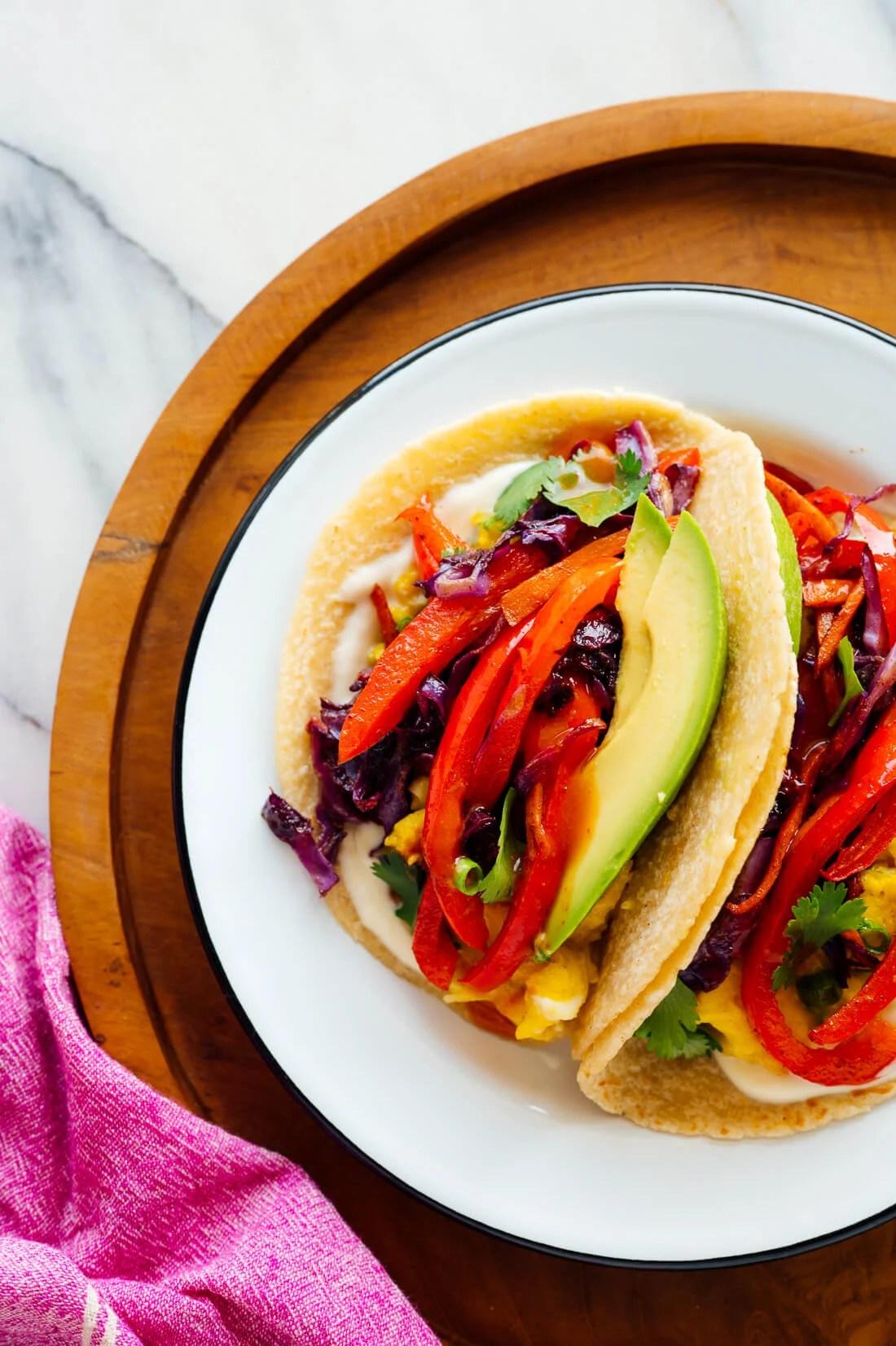 vegetarian breakfast tacos recipe