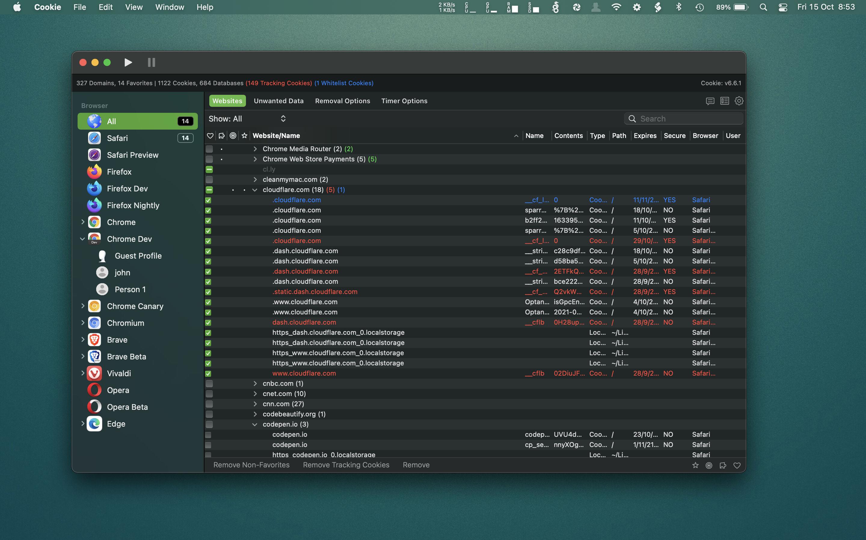 Cookie 6.5.6 Mac 破解版 Mac上实用的保护浏览器隐私和防止Cookie追踪的工具