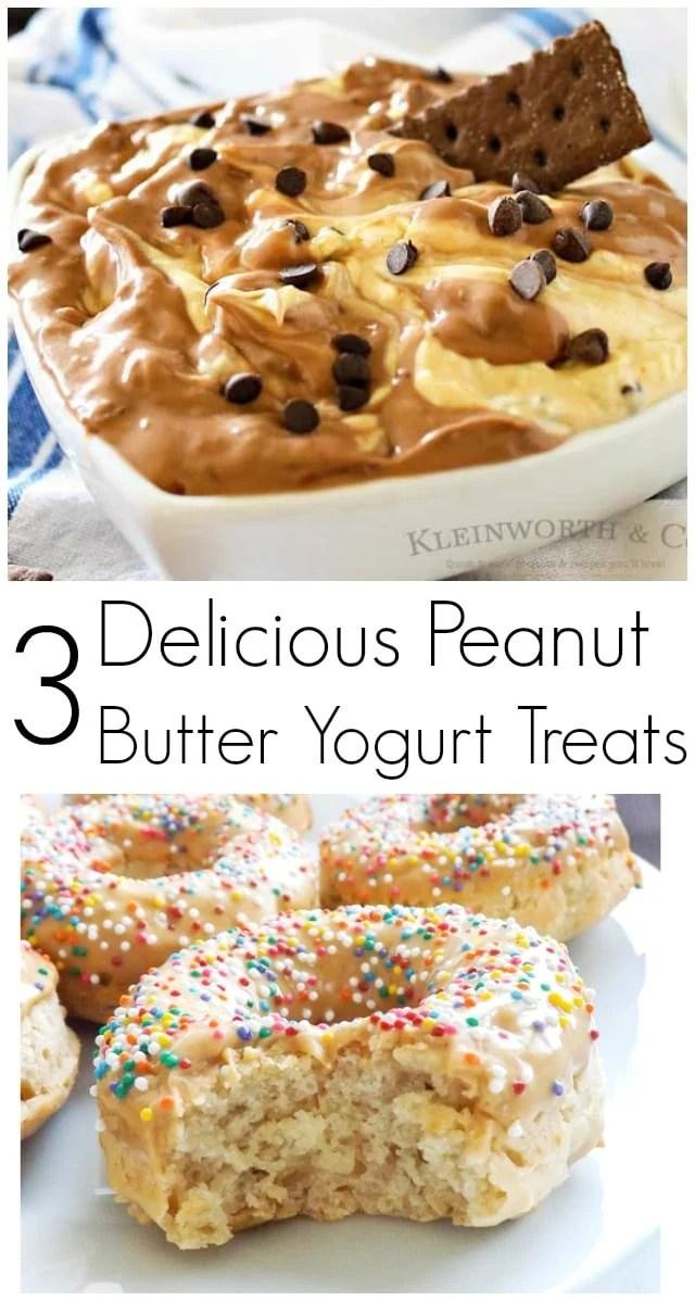 3 Delicious Peanut Butter Yogurt Treats