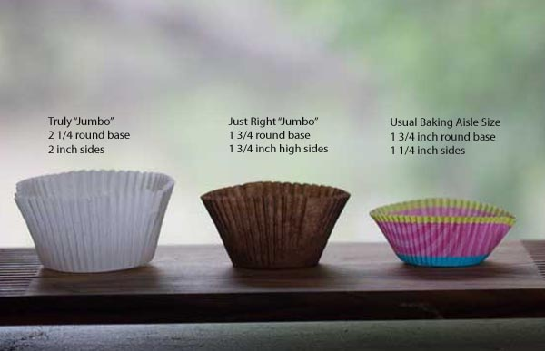 Cupcake Wrapper Sizes