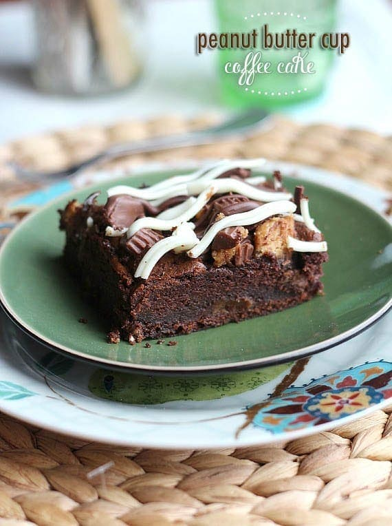 Peanut Butter Cup Chocolate Coffee Cake | Cookies and Cups