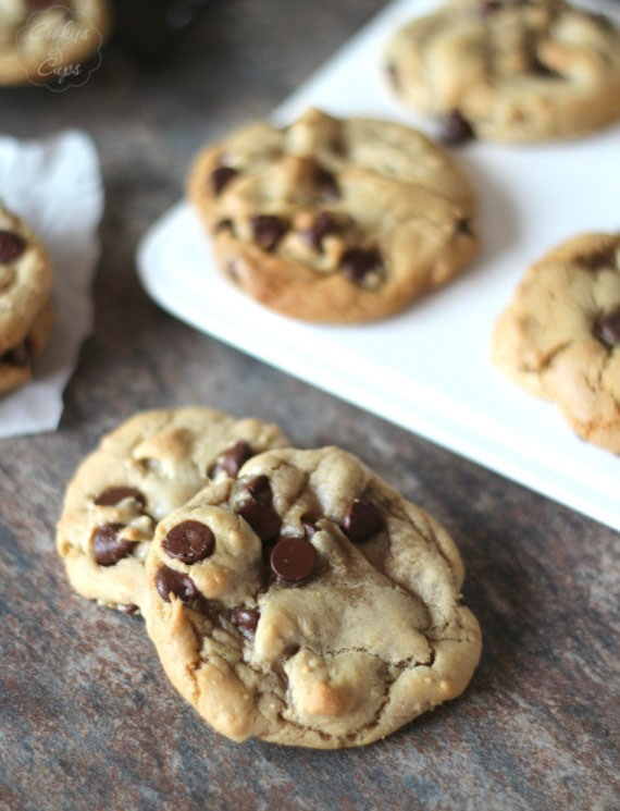 Grapeseed Oil Chocolate Chip Cookies | Cookies and Cups