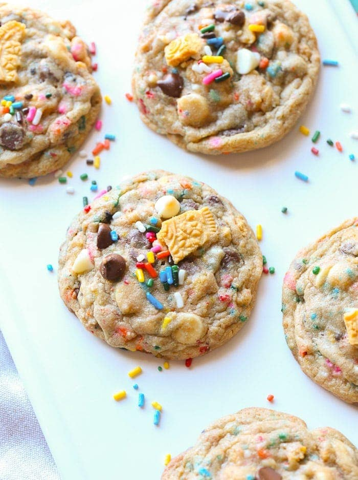 Birthday Cake Chocolate Chip Cookies Cookies and Cups