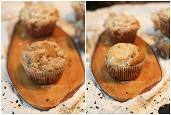 Pumpkin Apple Muffins | www.cookiesandcups.com