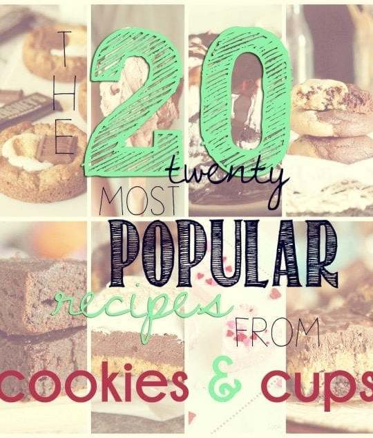 Most Popular Recipes of 2013 on cookiesandcups.com