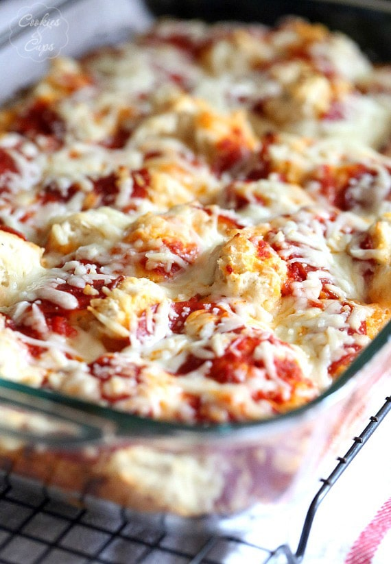 Easy Pizza Casserole...just a few pantry ingredients and you're set!