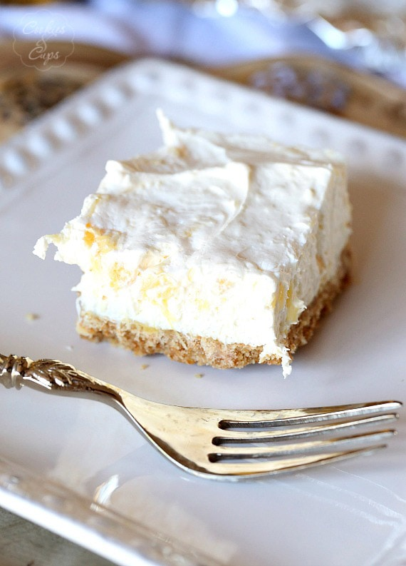 Potluck Cheesecake Dessert. A simple dessert to make for get togethers and parties...so easy to make and everyone will love it!