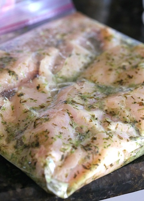 Lime Chicken Marinating