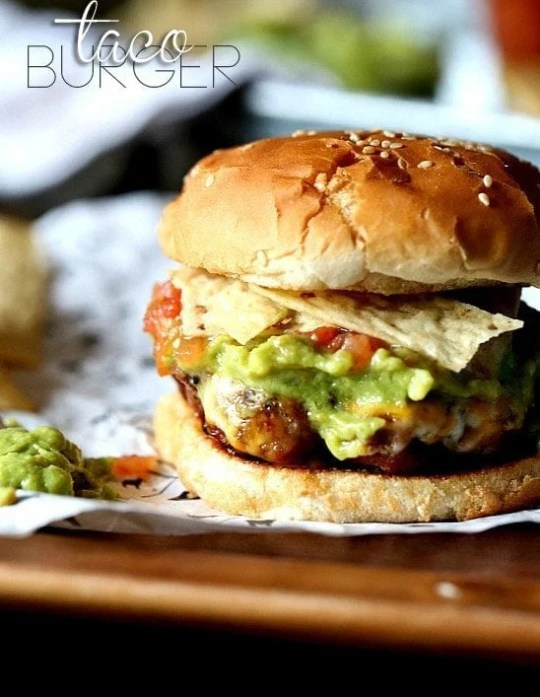 Taco Burgers.. A simple hamburger that you can top with all your favorite Taco Toppers!!