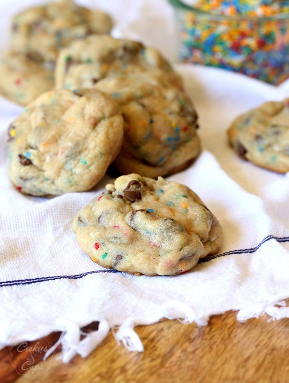 Soft Frosting Filled Chocolate Chip Cookies
