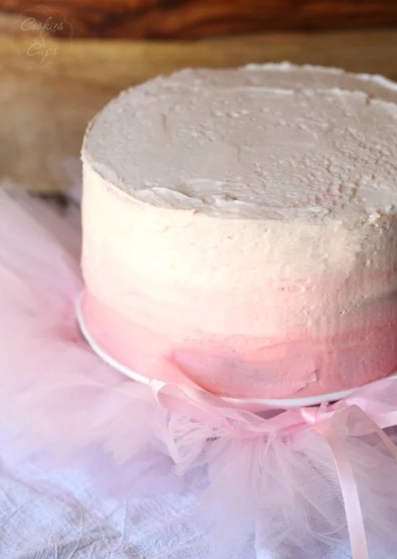 Pink Lemonade Chiffon Cake with PInk Lemonade Buttercream