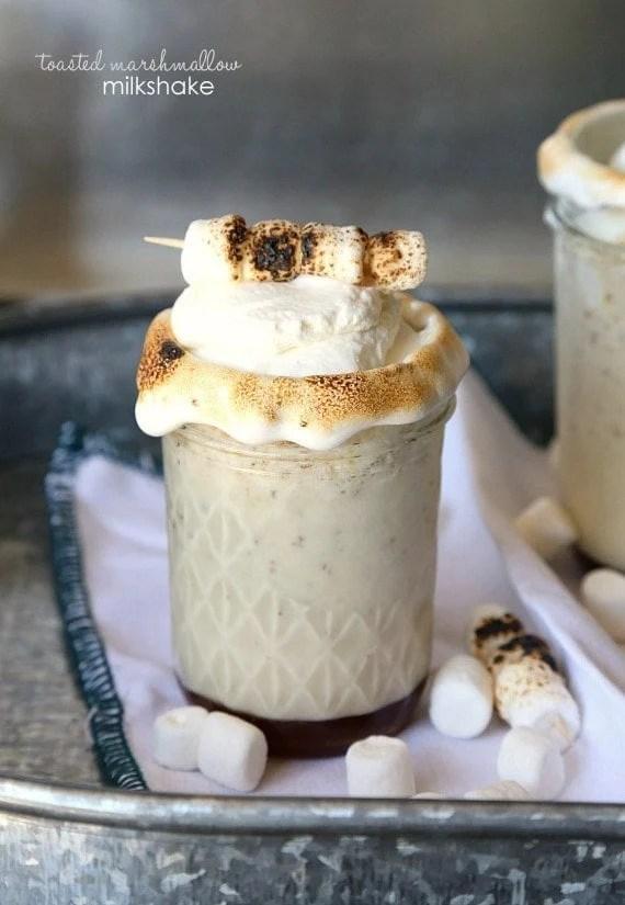 Toasted Marshmallow Milkshake...totally simple, but ridiculously good! #milkshakeweek
