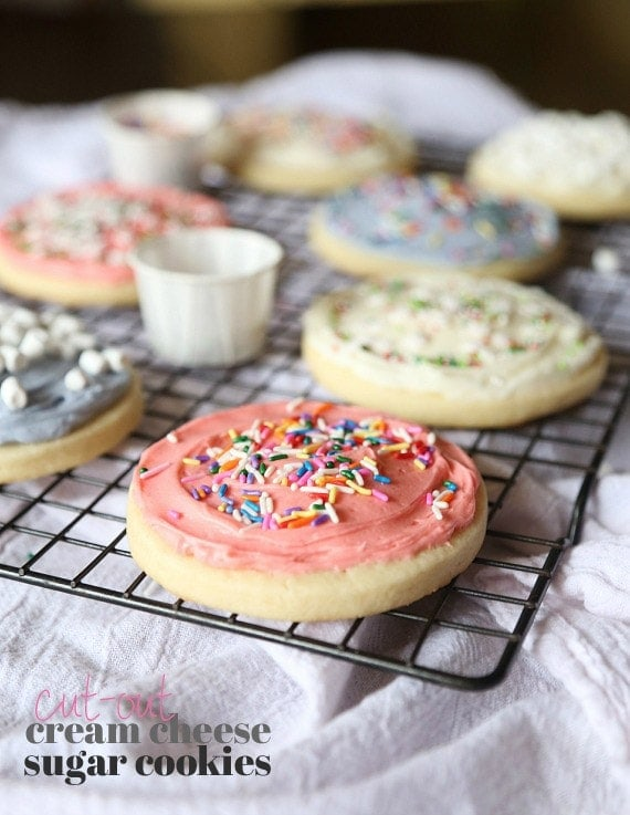 Cream Cheese Cut-Out Sugar Cookies - Cookies and Cups