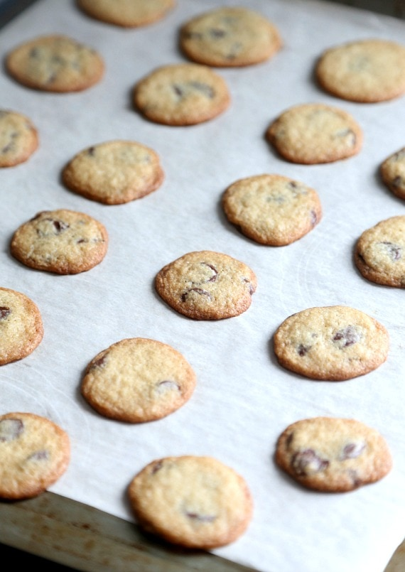 Tiny crispy cookies that you fold into MORE cookie dough to create crispy bits!!