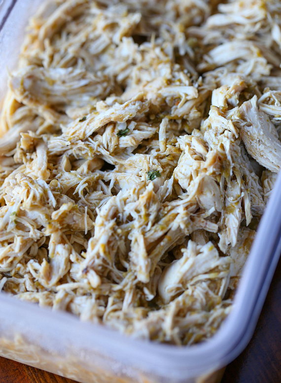 Leftover Salsa Verde Shredded Chicken I made in the Instant Pot!