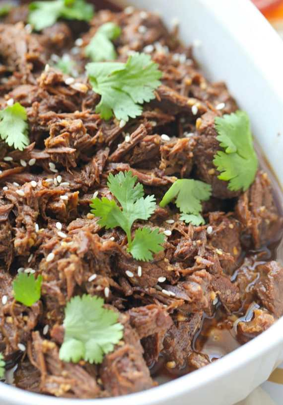 This Pressure Cooker Korean Beef was made in the InstantPot and it's AMAZINGLY flavorful and totally simple!