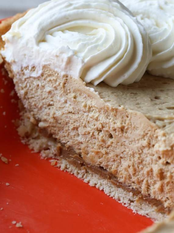 Cookie Butter Cream Cheese Pie with a flaky cream cheese pastry crust!