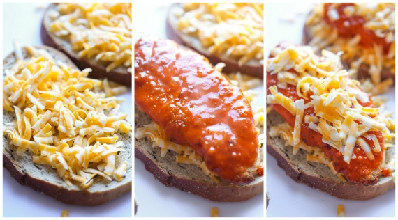 Building a Buffalo Chicken Grilled Cheese Sandwich