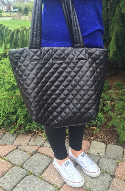 MZ Wallace Black Leather Metro Tote