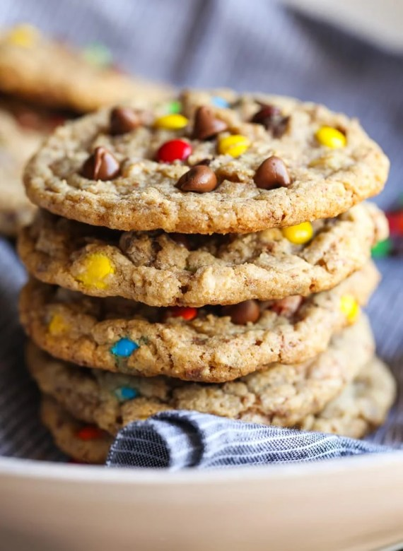 Boyfriend Cookies... oh wow, these are huge chewy, chocolatey cookies! Loaded with oats, milk chocolate, M&M'S, semi-sweet chocolate and walnuts!