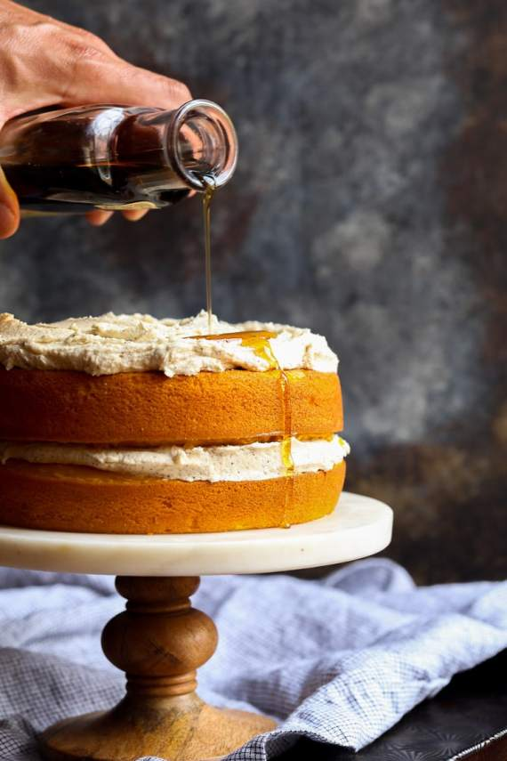 Perfect Pumpkin Cake with Browned Butter Maple Frosting ...