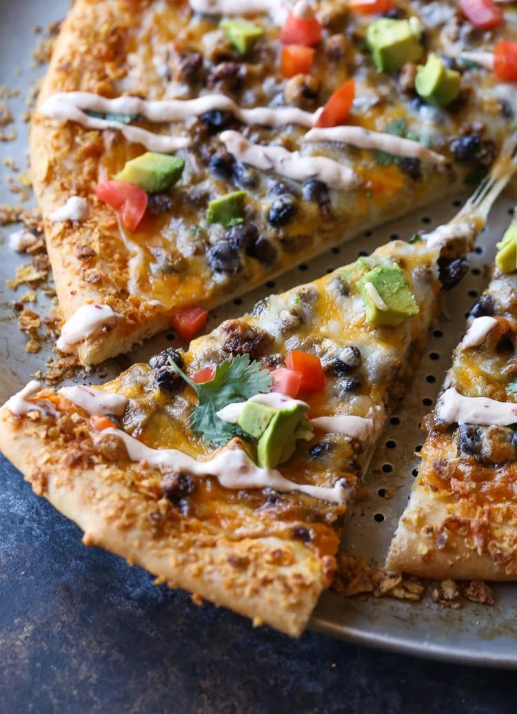 Taco Pizza with Chipotle Cream Sauce