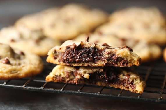 Brownie Stuffed Chocolate Chip Cookies (aka Pillow Cookies) are soft, rich, chocolaty and 2 favorites in one delicious place!