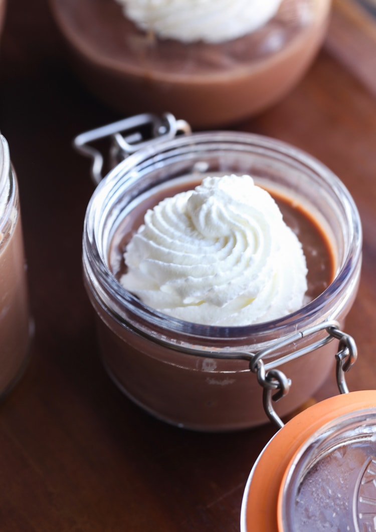 Easy Chocolate Pudding from scratch is creamy and crazy easy! My kids favorite!