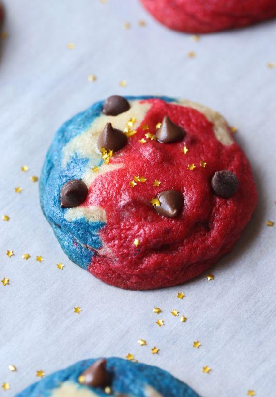Patriotic Chocolate Chip Cookies