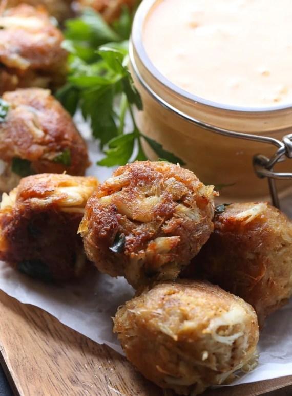 Crispy Crab Balls with Chipotle Tartar Sauce