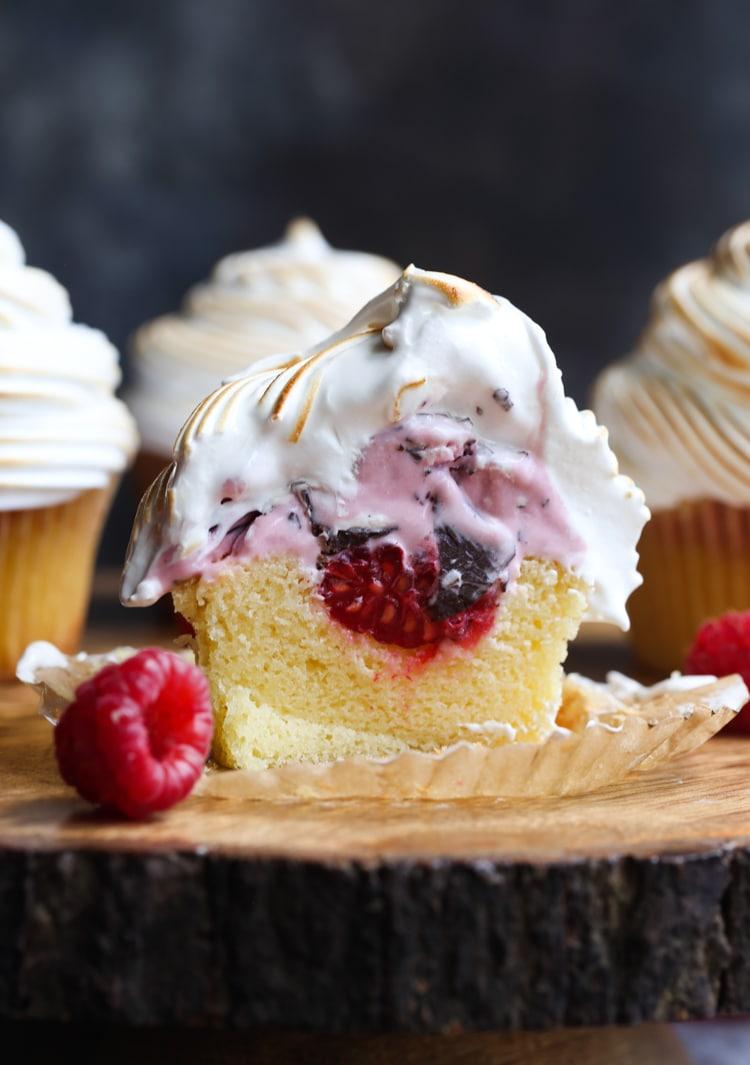 Baked Alaska Cupcakes Easy Baked Alaska Dessert Recipe
