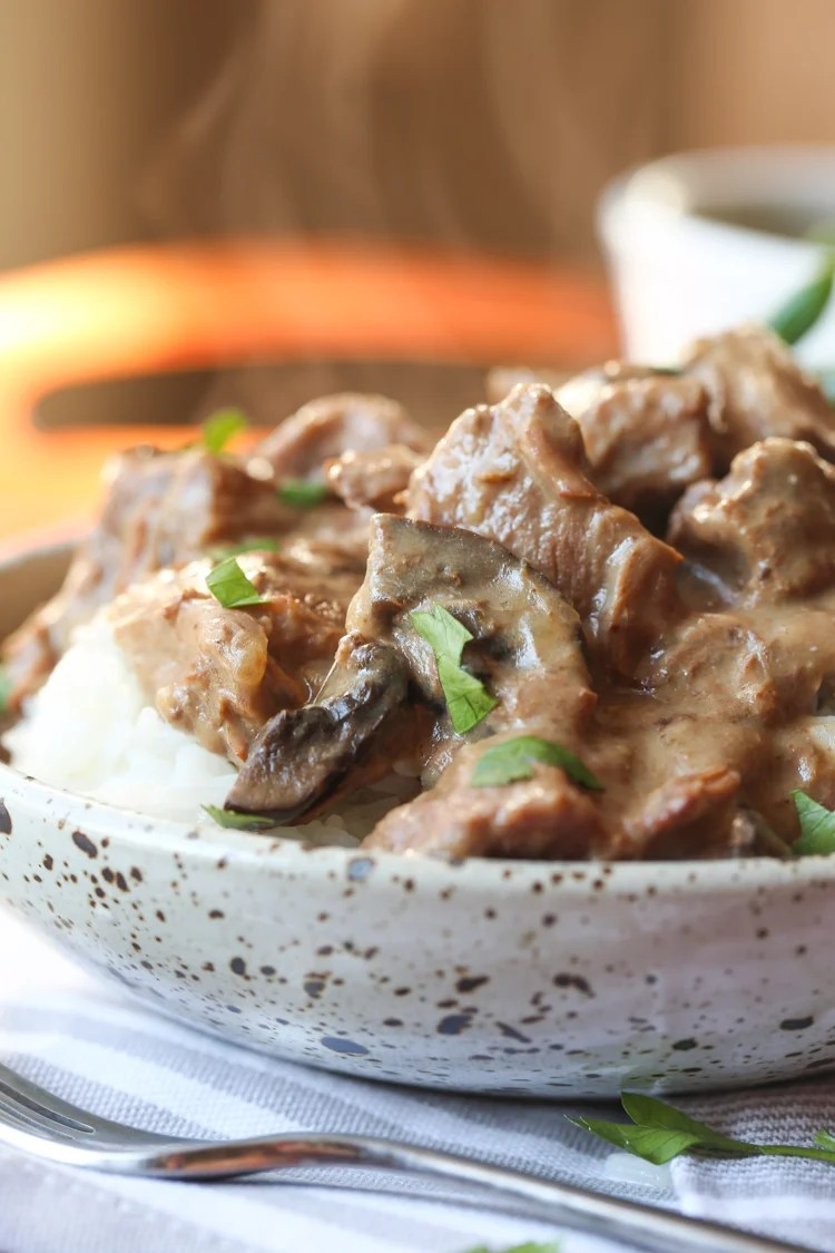 Easy Slow Cooker Beef Tips | Easy Beef Dinner Recipe