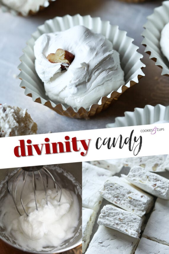 Walnut Divinity Candy in the Form of Bars and Truffles