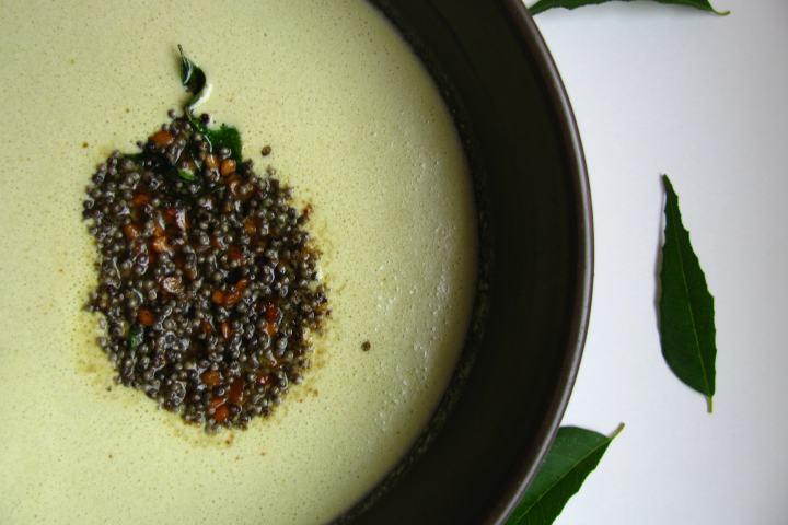 Curry Leaf-flavored Yogurt Sauce | Karibevu Tambuli