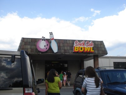Here's a doozy: Poor Richard's is actually inside this bowling alley