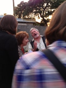 Grams and Buddy Garrity having a laugh