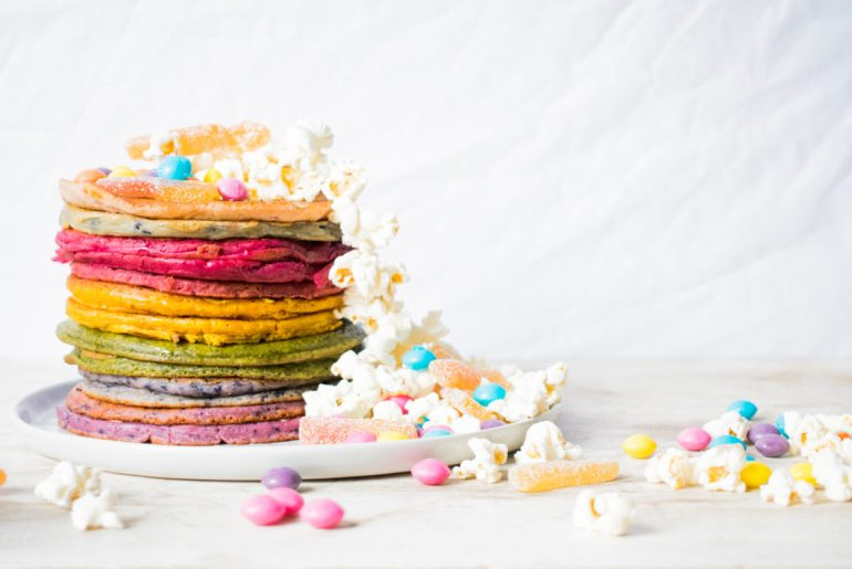 {Food} Super fluffy Unicorn Pancakes
