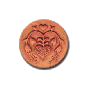061 Heirloom Rycraft Fuchsia Heart Cookie Stamp | CookieStamp.com