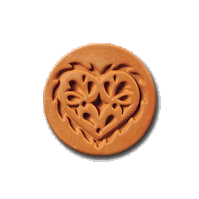 1005 Lacy Heart cookie stamp | cookiestamp.com