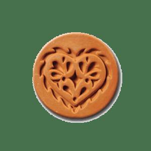 1005 Lacy Heart cookie stamp | cookiestamp.com